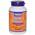 NOW Choline Inositol - Холин + Инозитол 500 мг 100 капсул - БАД