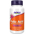 Now Folic acid with B-12 Фолиевая кислота с витамином B-12 БАД 800 мкг, 250 таблеток