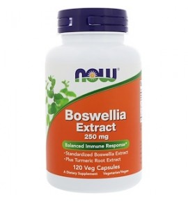 NOW Boswellia Eextract - Экстракт босвелии 250 мг, 120 вегетарианских капсул - БАД