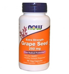 NOW Grape Seed Antioxidant – Экстракт косточек винограда - БАД