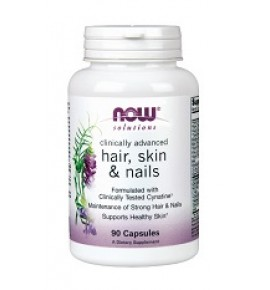 NOW Hair, skin & nails-Дермал Клиникал Комплекс-БАД,  90 капсул Now Food