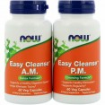 NOW Easy Cleanse, Изи Клинз, Комплекс 2 банки по 60 капсул - БАД