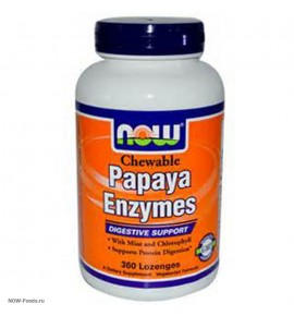 NOW Papaya Enzymes – Папайя Ферменты - БАД