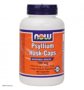 NOW Psyllium Husk+Apple Pectin – Подорожник+Пектин - БАД